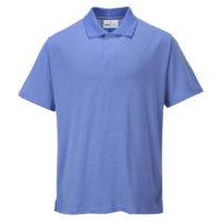Anti-Static ESD Polo Shirt – Hospital Blue