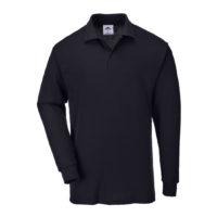 Genoa Long Sleeved Polo Shirt – Black