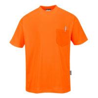 Day-Vis Pocket Short Sleeve T-Shirt – Orange