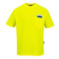 Day-Vis Pocket Short Sleeve T-Shirt – Yellow