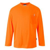 Day-Vis Pocket Long Sleeve T-Shirt – Orange