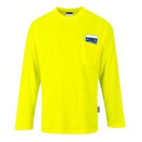 Day-Vis Pocket Long Sleeve T-Shirt – Yellow