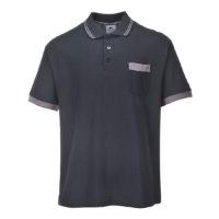 Portwest Texo Contrast Polo Shirt – Black