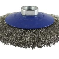 Crimped Stainless Steel Wire Bevel Brush