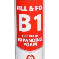Fill & Fix Fire Rated Expanding PU Foam – B1 – Gun Grade
