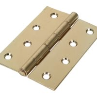 Butt Hinge – Fixed Pin (1838) – Electro Brass