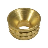 Knurled Brass Inset Screw Cup