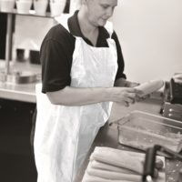 A14's Disposable Aprons on a roll