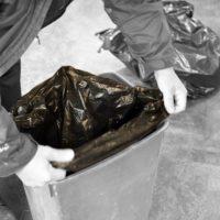 Black medium duty square bin liners
