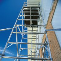 3T Double Width Vertical Ladder 2.5 x 0.70m Scaffold Tower