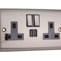 Switched Wall Socket with USB Ports