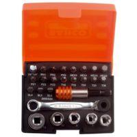 2058/S26 Ratchet Socket Set of 26 Metric 1/4in Drive