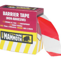 Barrier Tape Red / White 72mm x 500m