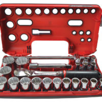 1/2in Drive 12-Point Detection Box Socket Set, 22 Piece Metric
