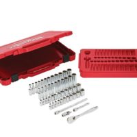 1/4in Drive Ratcheting Socket Set Metric & Imperial, 50 Piece