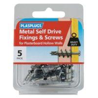 Metal Self Drive Fixings & Screws Pack of 5