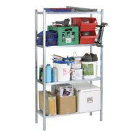 S450-31 Galvanised Shelving with 4 Shelves