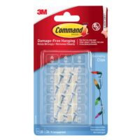 Clear Decorating Clips with Clear Strips (Pack 20)