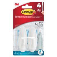 Medium Bathroom Hooks (Pack 2)
