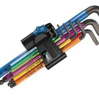 950/9 Hex-Plus Multicolour Holding Function L-Key Set, 9 Piece (1.5-10mm)